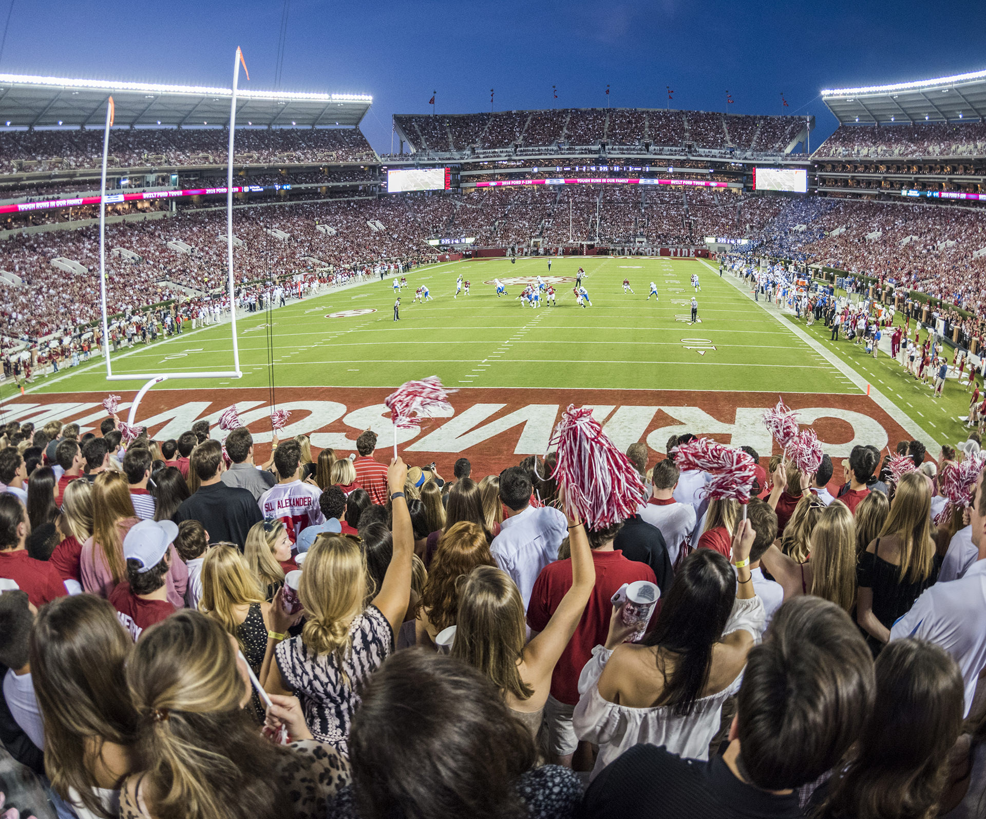 UA's Bryant Denny Stadium During a Football Game